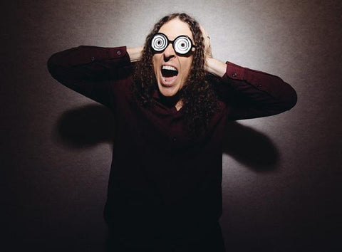 Weird Al in amazing hypno glasses