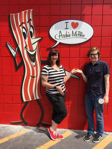 Roger and Shana with Mr. Bacon