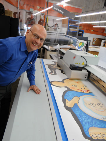 Mark Pahlow at Printer with Bibo belly