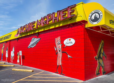 New art on Side of Archie McPhee store
