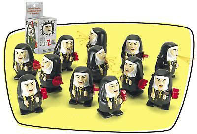 A flock or abbey of nunzilla sparking