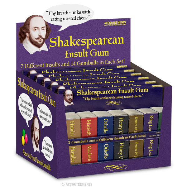 Shakespearean Insult Gum - Bulk Box