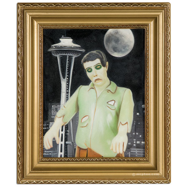 Moonlight Zombie Oil Painting-Archie McPhee