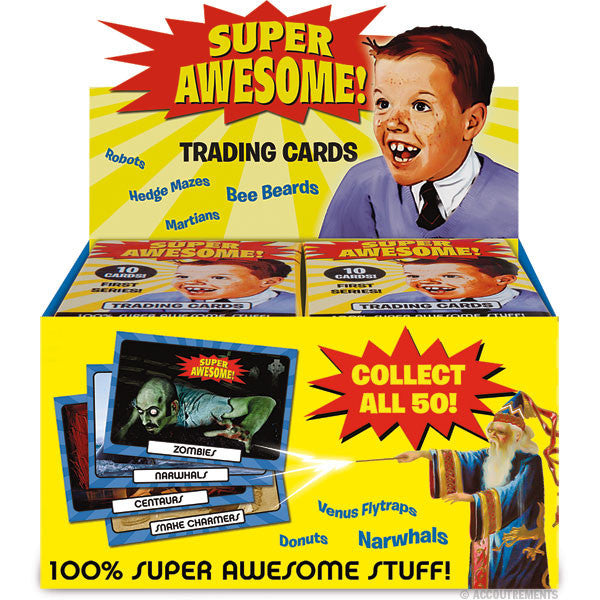 Super Awesome Trading Cards - Box of 24 Packs - Archie McPhee - 1