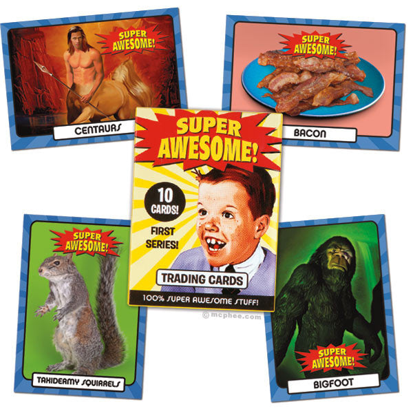 Super Awesome Trading Cards - Archie McPhee - 1