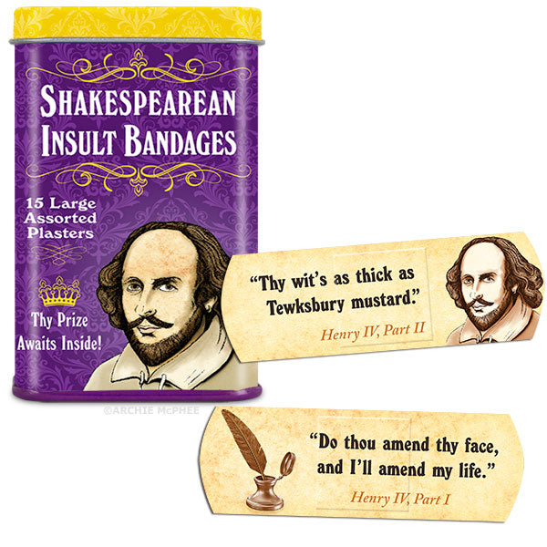 Shakespearean Insult Bandages - Bulk Box