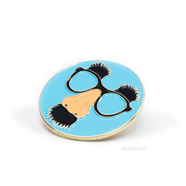 Disguise Glasses Enamel Pin-Archie McPhee
