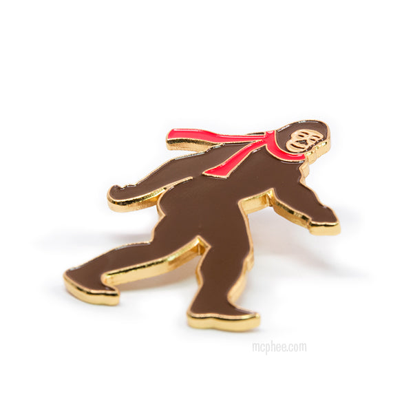 Bigfoot Enamel Pin-Archie McPhee