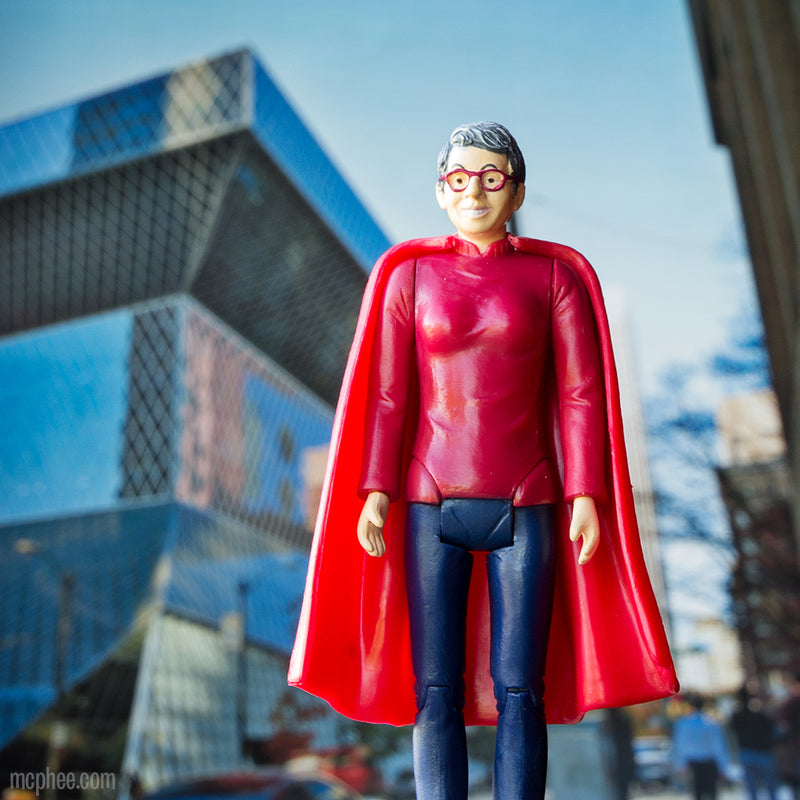 Librarian Action Figure Seattle Public Library