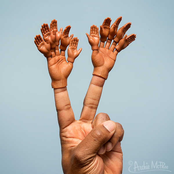 75ee0dd1d Finger Hands For Finger Hands - Dark Skin Tone - Set of 10 – Archie ...