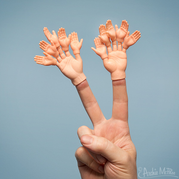 Finger Hands For Finger Hands - Light Skin Tone - Set of 10