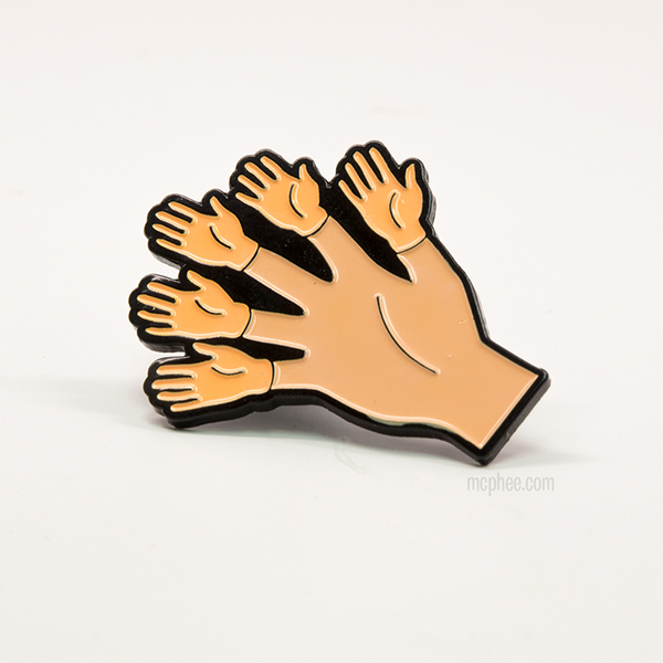 Finger Hands Enamel Pin