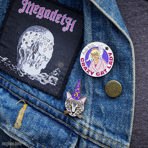 Crazy Cat Lady Strange Pin