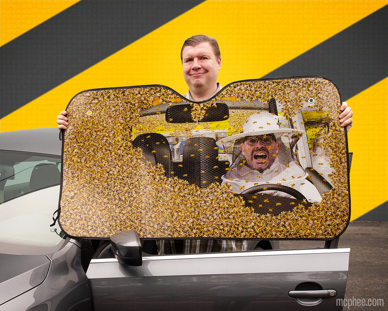 Car Full of Bees Auto Sunshade