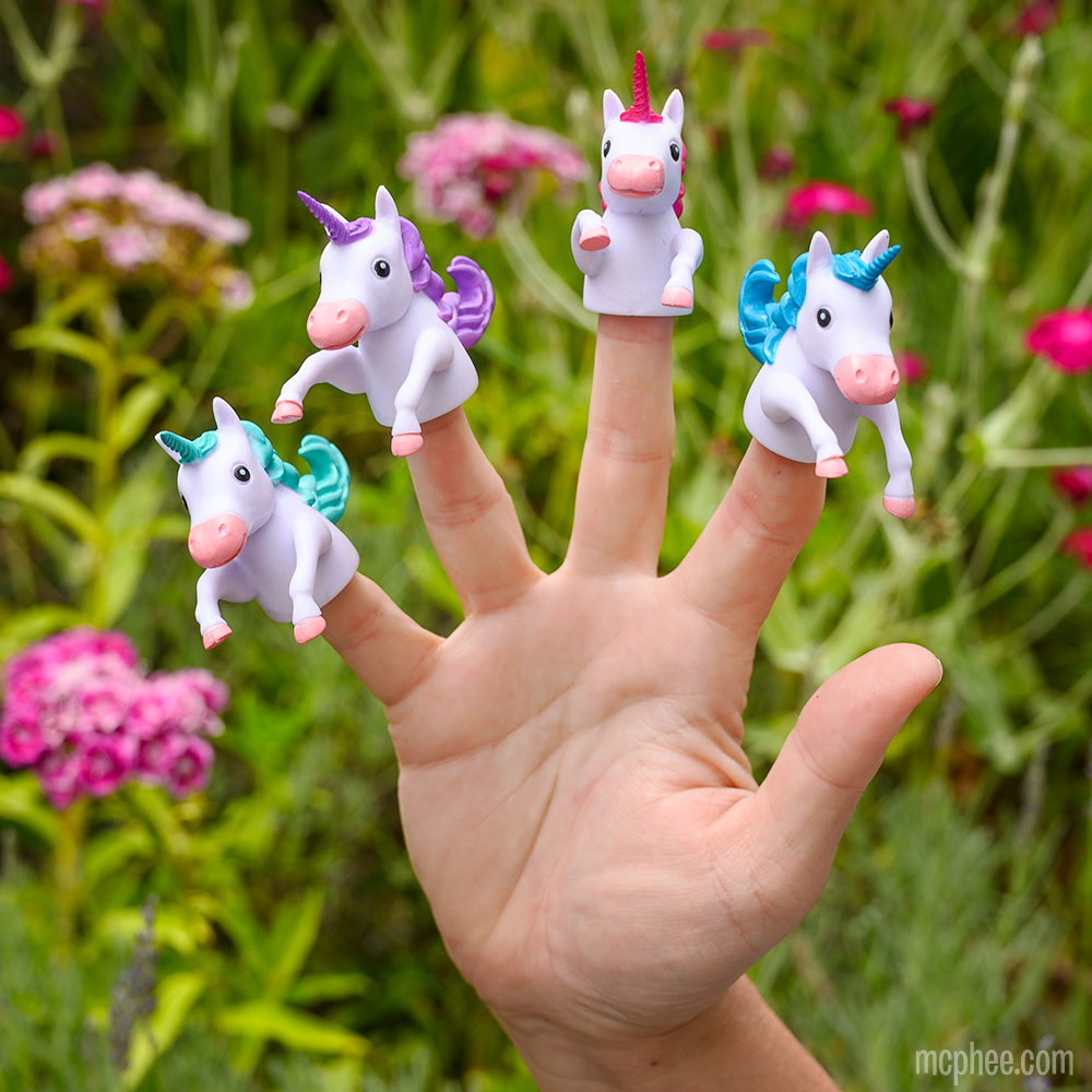 Finger Unicorns - Set of 4