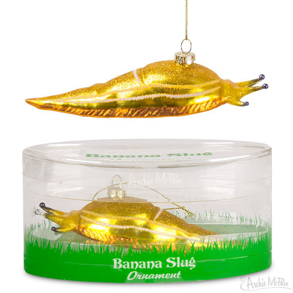 Banana Slug Ornament-Archie McPhee