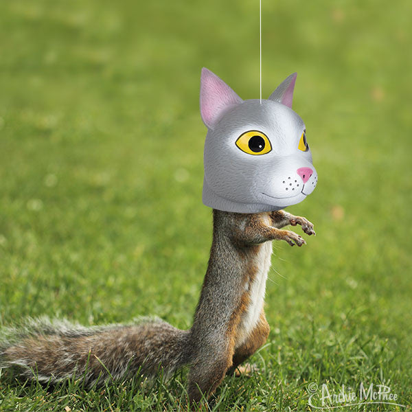Cat Head Squirrel Feeder-Archie McPhee