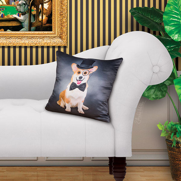 Cultured Corgi Pillow Cover