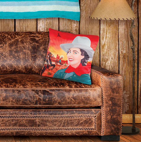 Cowgirl Pillow Cover-Archie McPhee