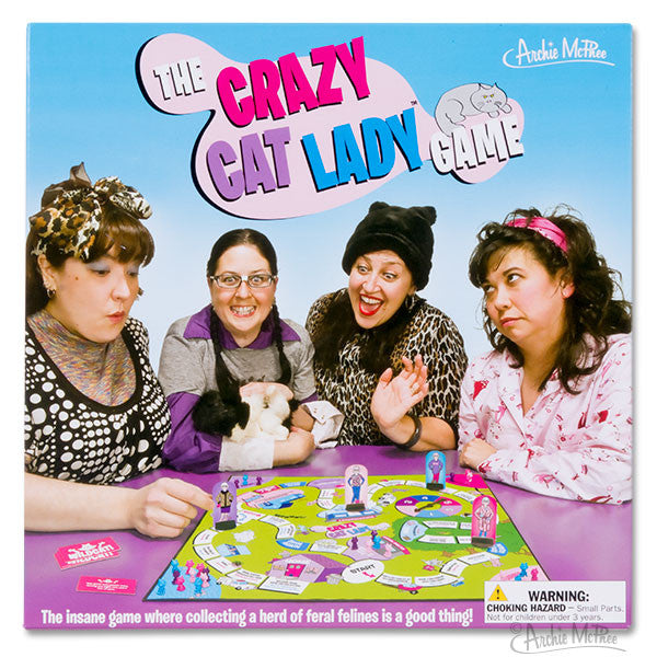 Crazy Cat Lady Board Game-Archie McPhee