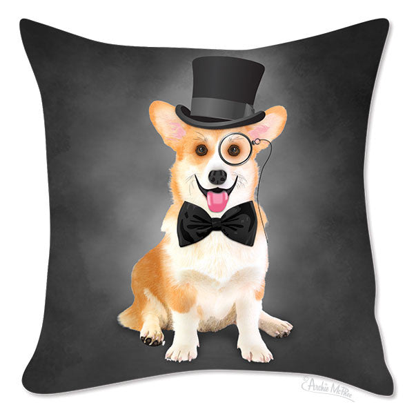 Cultured Corgi Pillow Cover-Archie McPhee