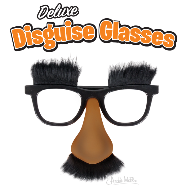Deluxe Disguise Glasses - Dark Skin Tone