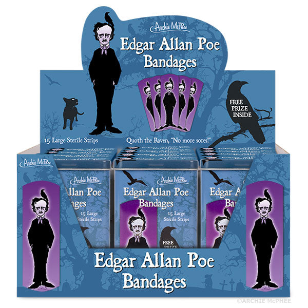 Edgar Allan Poe Bandages - Bulk Box