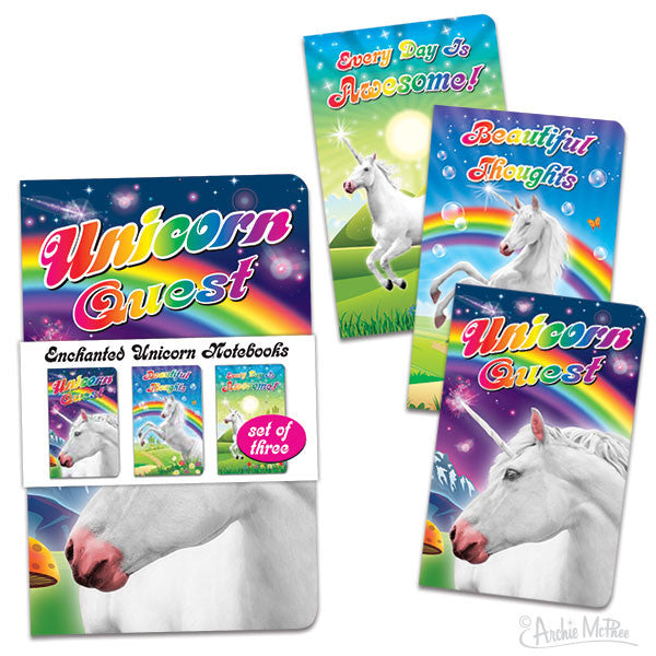 Enchanted Unicorn Notebooks-Archie McPhee
