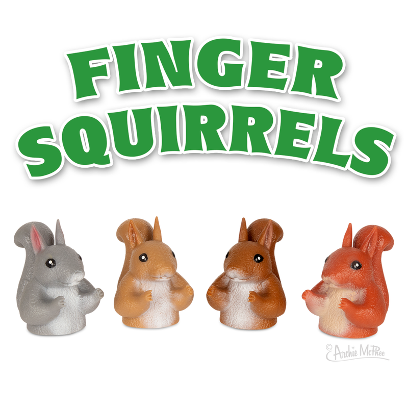 Finger Squirrels - Finger Puppets