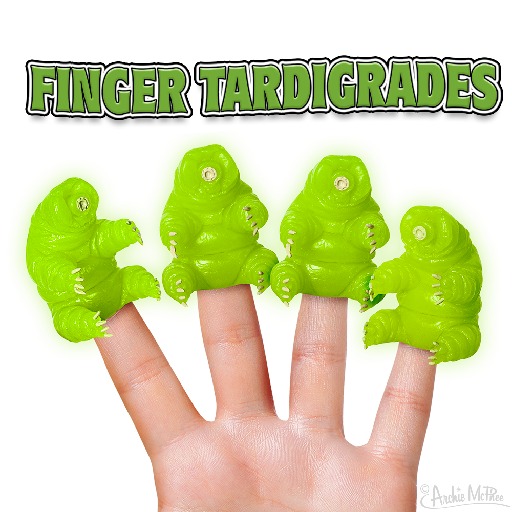 Glow-in-the-Dark Finger Tardigrades