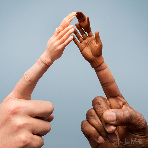Finger Hands For Finger Hands - Dark Skin Tone - Set of 10
