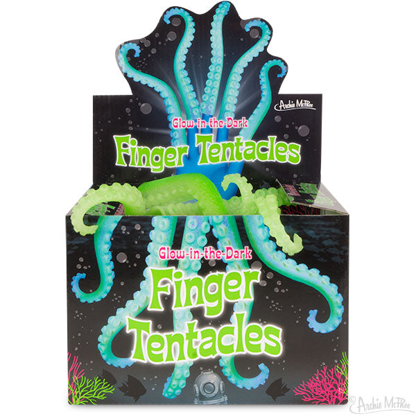 Glow-in-the-Dark Finger Tentacles - Bulk Box