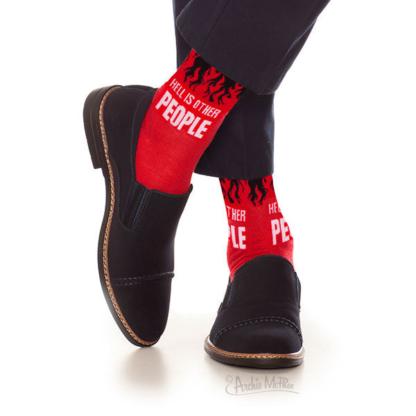 Hell Is Other People Socks Archie Mcphee