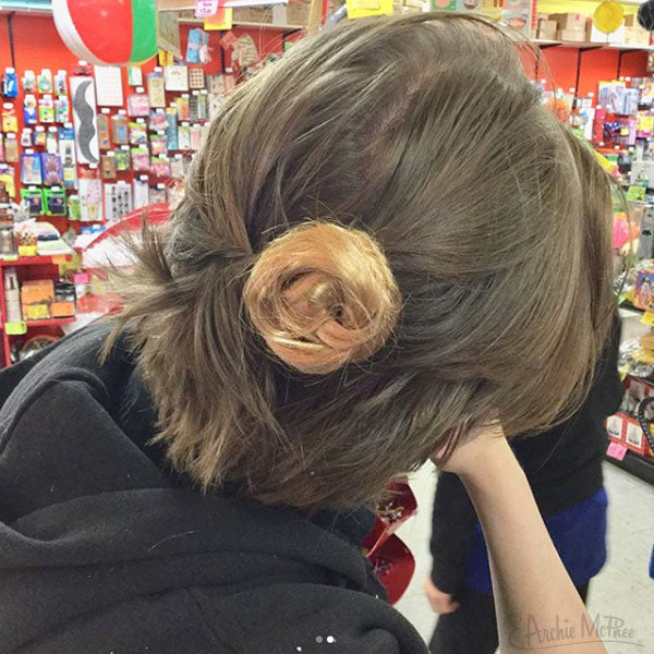Clip-On Man Buns Handmade in Seattle-Archie McPhee