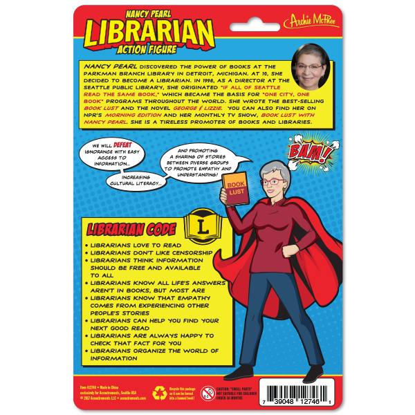 Librarian Action Figure card back