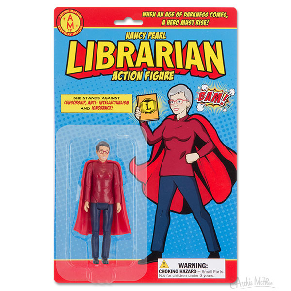 Librarian Action Figure card front