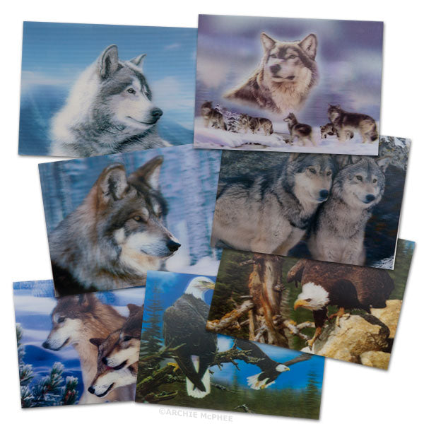 Rough and Tumble Lenticular Card Set