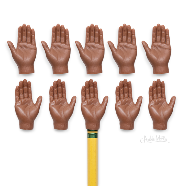 Finger Hands For Finger Hands - Dark Skin Tone - Archie McPhee