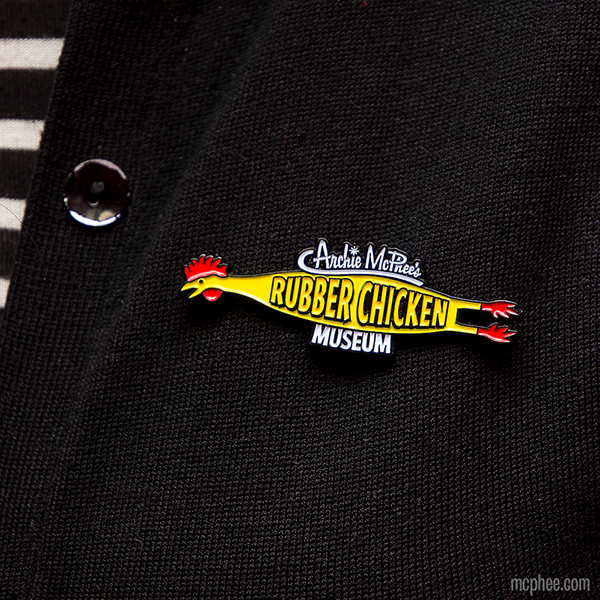 Rubber Chicken Museum Enamel Pin