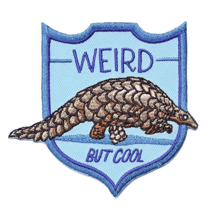 Weird But Cool Pangolin Embroidered Patch