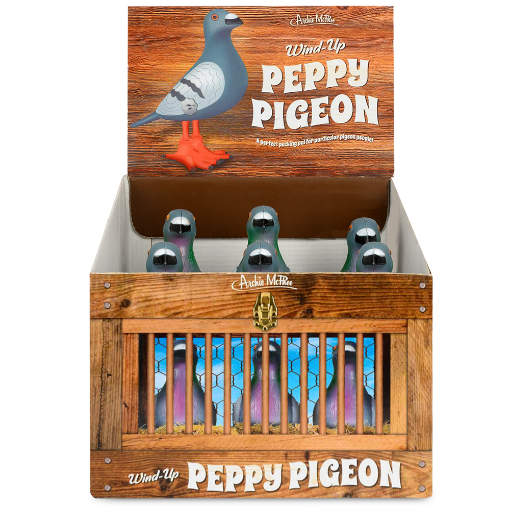 Wind-Up Peppy Pigeon - Bulk Box