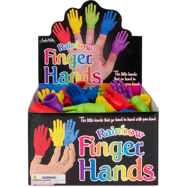 Rainbow Finger Hands Bulk Box