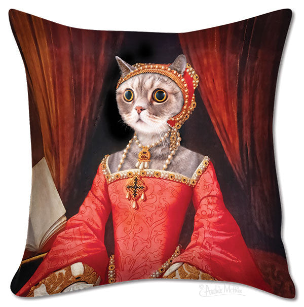 Renaissance Kitty Pillow Cover