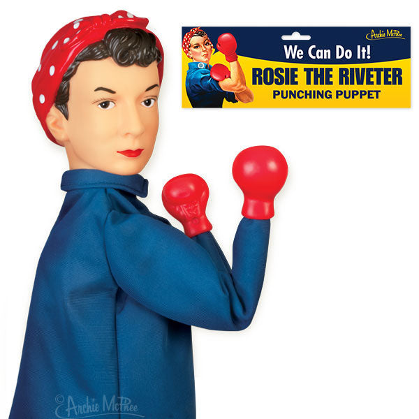 Rosie the Riveter Punching Puppet-Archie McPhee