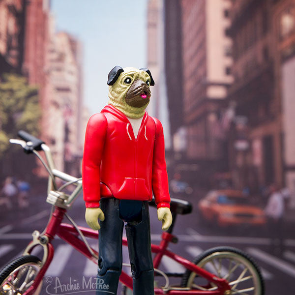 Strange Friends® Roscoe Pug Action Figure-Archie McPhee