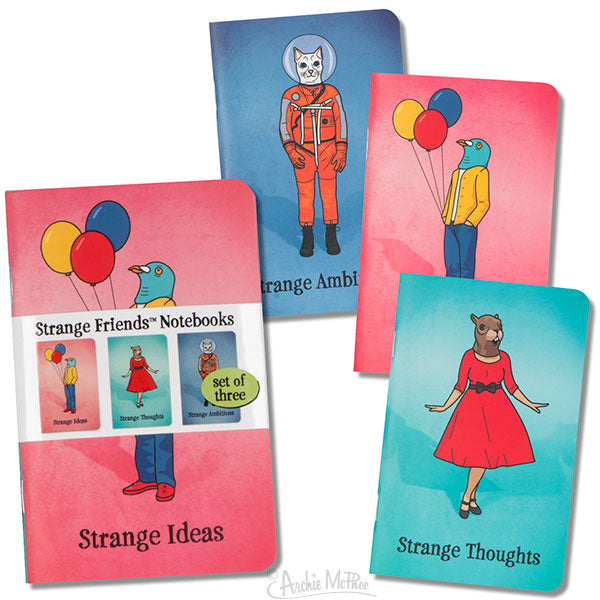 Strange Friends Notebooks-Archie McPhee