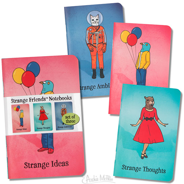 Strange Friends Notebooks