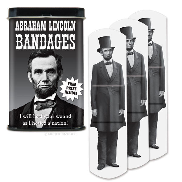 Abraham Lincoln Bandages - Archie McPhee - 1