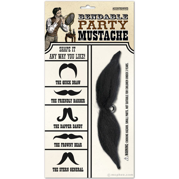 Bendable Party Mustache-Archie McPhee