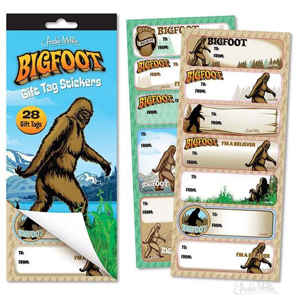 Bigfoot Gift Tag Stickers-Archie McPhee